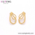 E-664 Xuping Jewelry 24k gold plated stainless steel simple fashion style earrings for women
