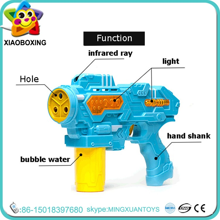 New kids BO plastic Automatic bubble shooter gun toy