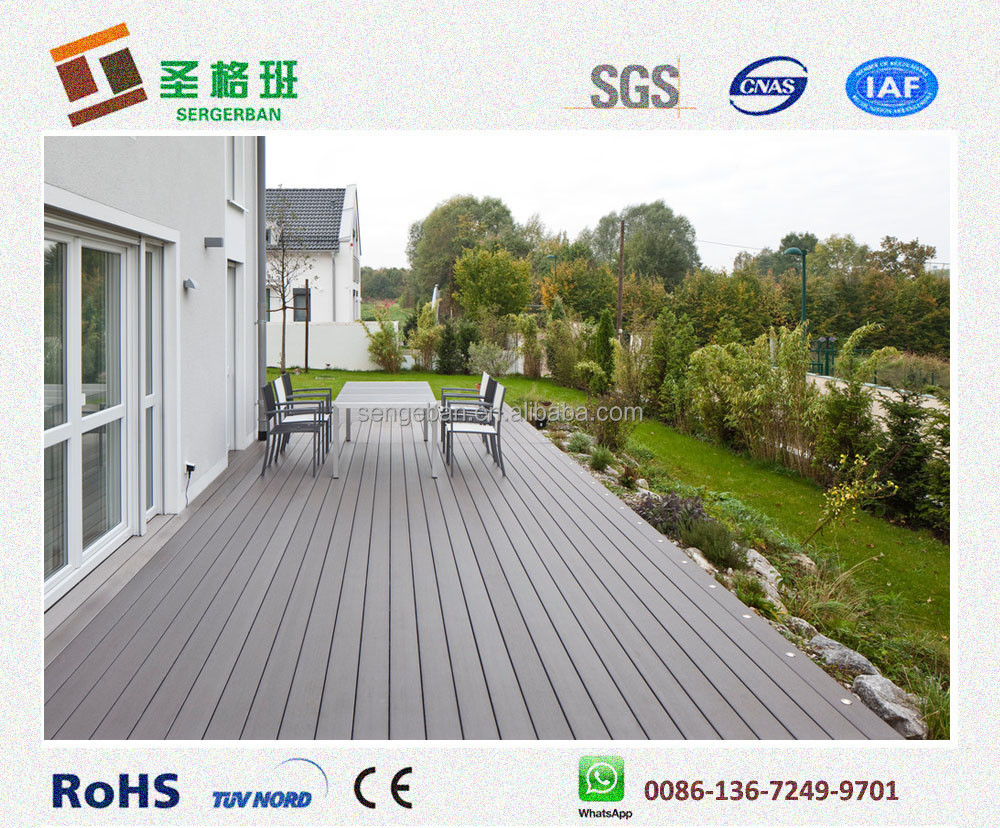 strong UV resistant wpc composite leisure decking