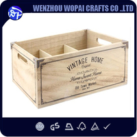 6 vintage Bottles French Wood Wine Box Case Rack Carrier wine gift box for Father's day