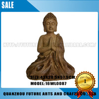 Eyes Closed Meditating Buddha Resin Figures
