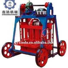 Factory sell Mobile manual cement block making machine QYJ-A concrete block brick molding machine price
