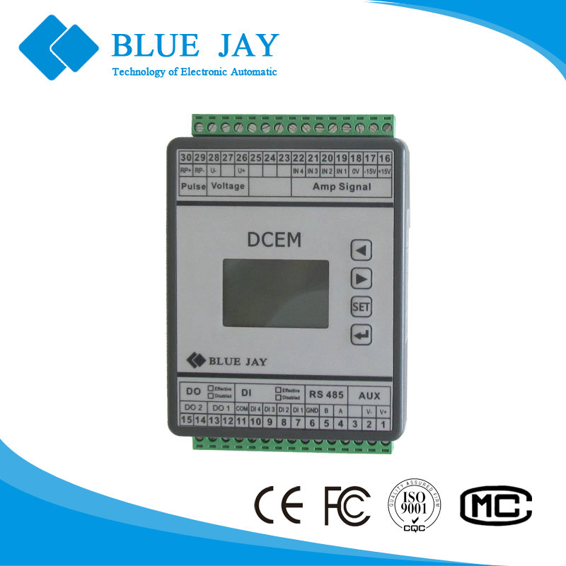 DCEM 400VDC, 500A energy meter for solar system, UPS battery monitor, 4 channel DC electric metering