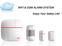 2015 new product wireless WiFi GSM GPRS Office Home Security Alarm System with Wireless PIR Detector PY-XY01