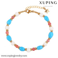 74197-Xuping Hot Item Promotional Colorful Bead Bracelet 2016 Jewelry For Girls