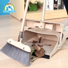 Cleaning tools plastic broom and dustpan set