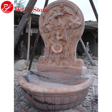 Customized size beautiful garden decoration stone water fountain