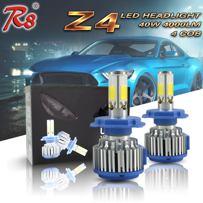 2017 Most selling products led headlight Z4 40W Auto parts cob led light 4000LM