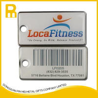 Promotional custom made key chain with laser QR code