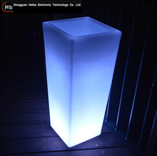 Modern Led plastic flower pot plastic square flower pot made in China funeral flower vases