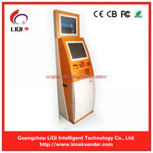 Dual Screen 19 Inch Self Service Betting Terminals Of Payment Kiosk For Bitcoin ATM