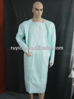Disposable CPE Plastic Gown with Thumb Loop