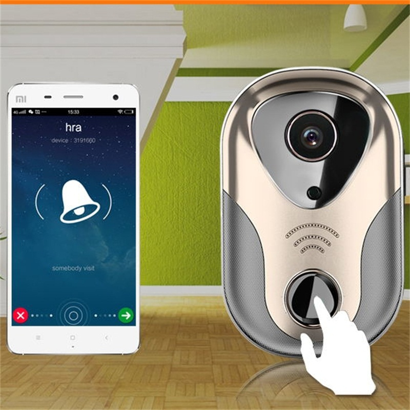 High Quality Ring Wi-fi Enabled Cobell Wifi Ip Viewer System Peephole Homemade Video Intercom Bell Door Camera Wireless Doorbell