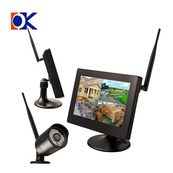 Newest H.264 9inch Touch Screen LCD Monitor CCTV System with 300Meters Wireless Distance