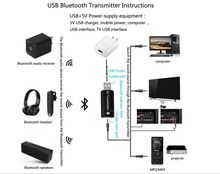 BT-02N USB wireless adapter micro Bluetooth audio transmitter and music receiver