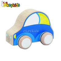 2016 wholesale baby wooden toy taxi, fashion kids wooden toy taxi, hottest wooden toy taxi W04A112