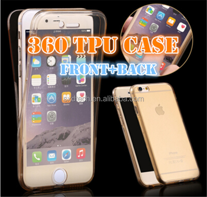 For iPhone 6s Case 360 degree full body protective Soft tpu Case 360C1