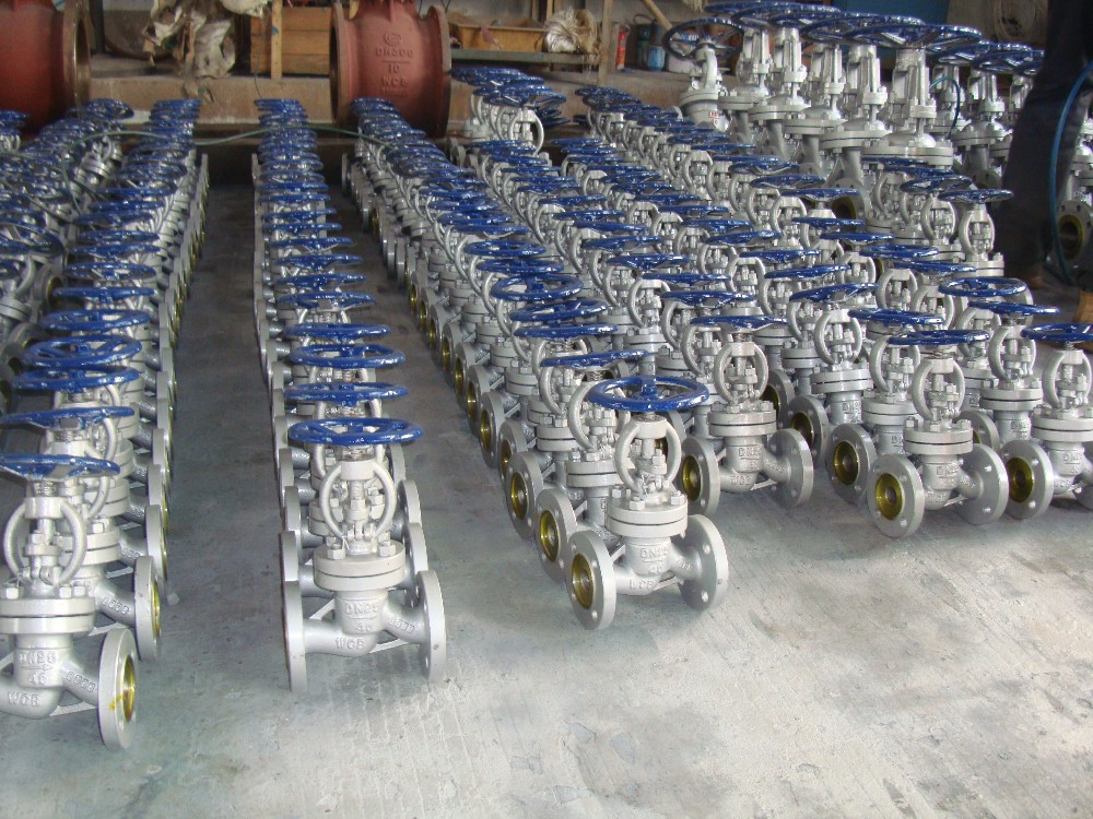 GOST/Russia Standard Stainless Steel/Cast Steel Angle Rising Stem Flange End Globe Valve