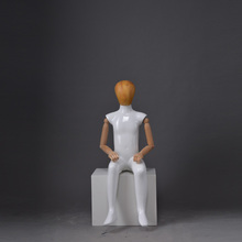 small full body acrylic sitting boy mannequin gold for sale chicago