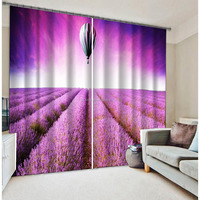 New fashion romantic window curtains with balloon lavender digital printing curtain
