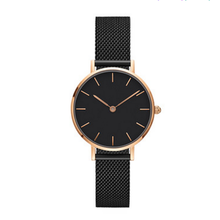 Small Size Minimalist Mesh Band Watch King Quartz Japan Movement Stainless Steel Watch