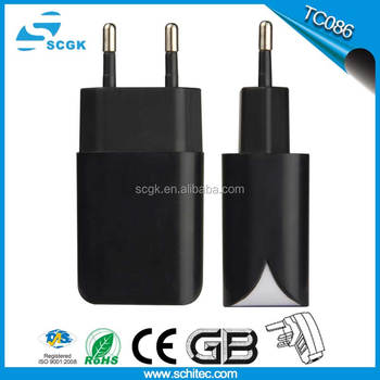 Eu plug usb adapter wall travel charger