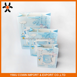 Gift baby boy paper bag 4c+3d Paper Gift Bags for gift