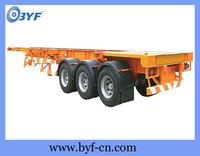 Hot products low flat bed semi trailer