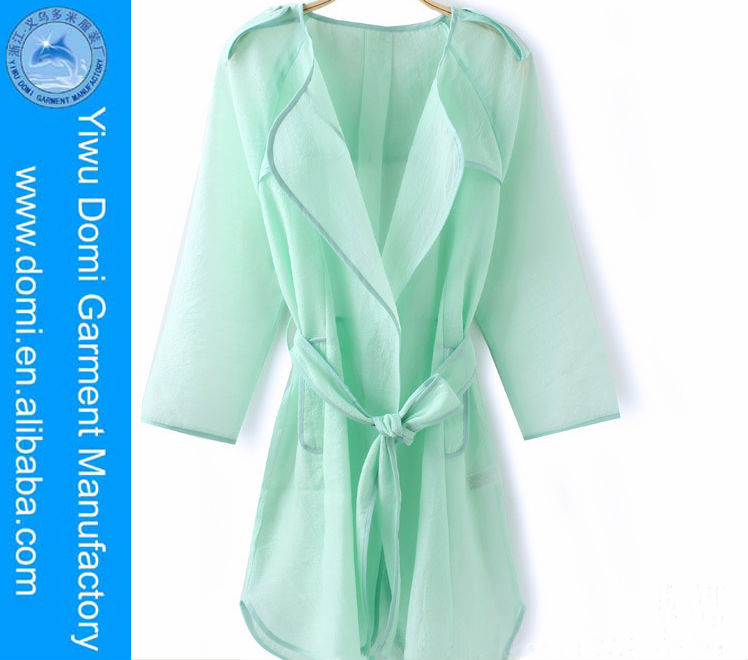 New summer women dress top organza translucent trench lace sun protection shirt designer clothing manufacturers in china