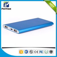 CE FCC RoHS approval 5000mAh super slim mobile phone power bank
