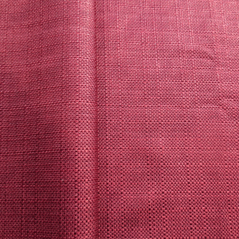 Chinese poliester linen look bacteria resistant upholstery fabric