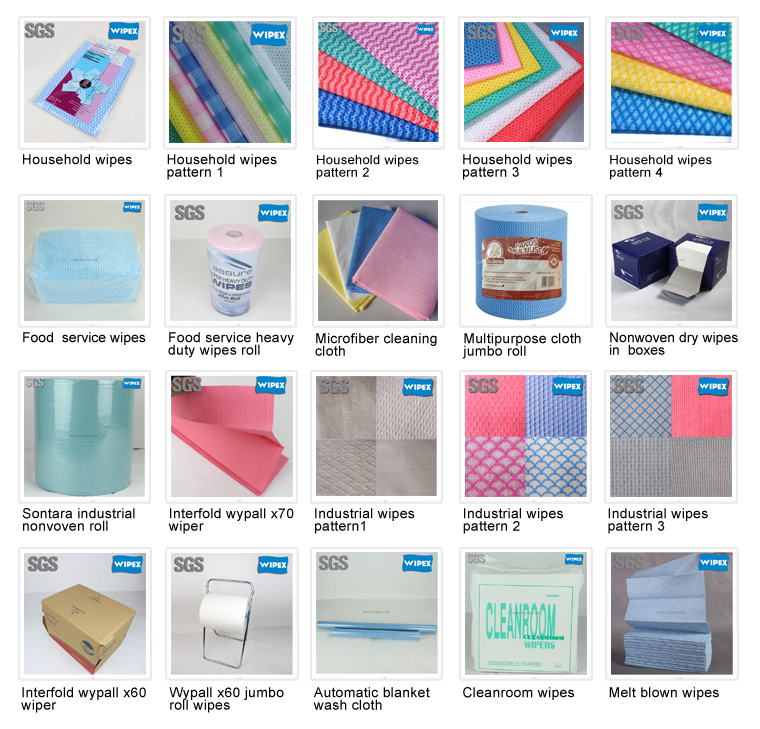 Free samples highly absorbent nonwoven spunlace household wipes