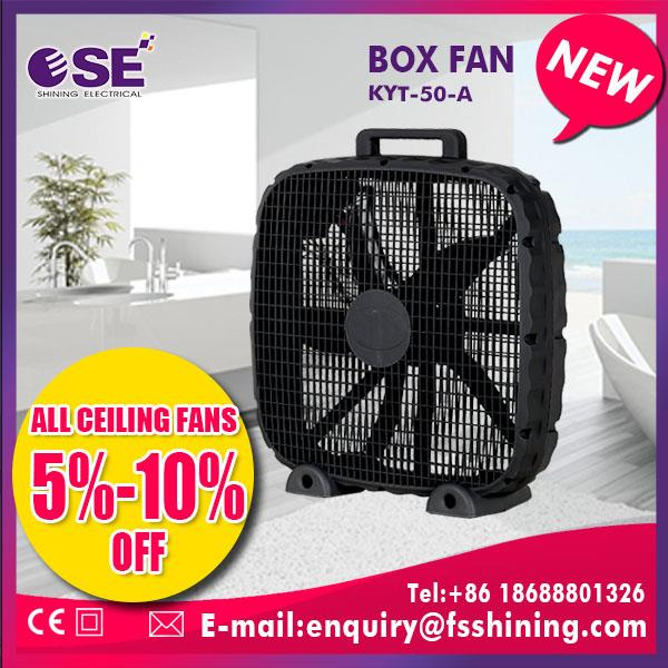 Alibaba supplier hot sell 20'' silent box fan with high quality