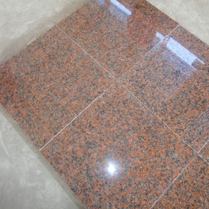 Top polished red color granite floor covering tiles G562 maple red granite customized tiles