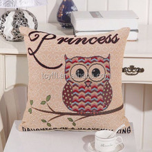 Personalized Owl Embroidery Top Sales Home Decor Pillow/Cushion