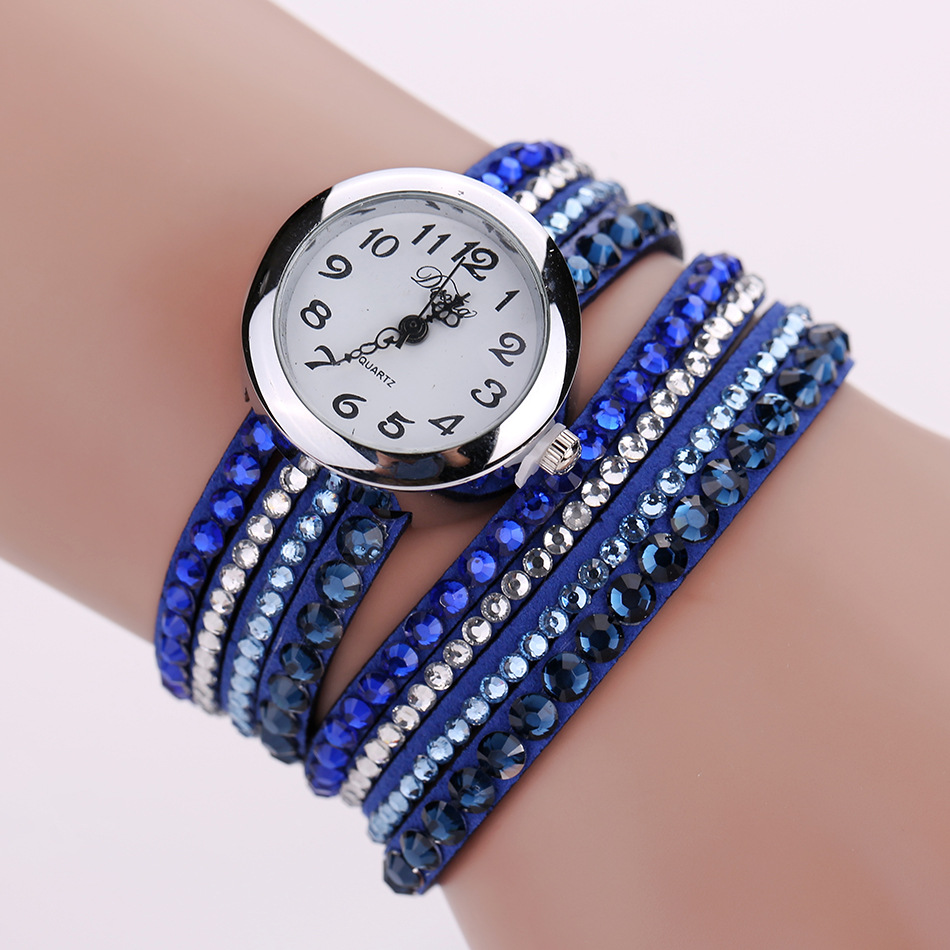10 Colors Vintage Ladies Watch leather Smart Watches ,Diamond Watch