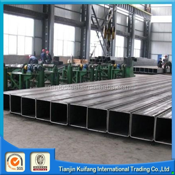 ERW blcak square tube iron fence/steel square tube