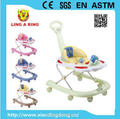 New design walker for baby with push bar and canopy Baby walker new models with music and light cheap baby walker