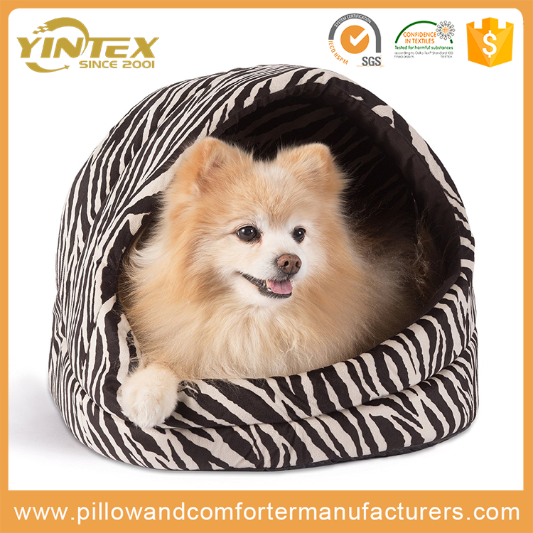 Wholesale High Quality egg shape size custom dog bed with removable cool pet cushion