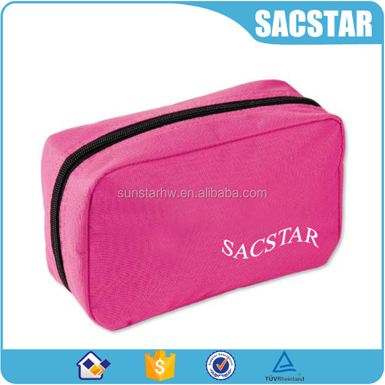 Polyester black inner lining colored beauty case make up pouch
