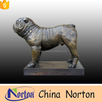 life size bronze bulldog staue dog welcome statue NTBA-D077S