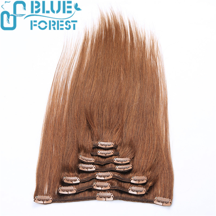 2016 Brazilian Remy Human Hair Clip in Extension For white Women