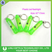Green Color Clear Plastic Key Rings
