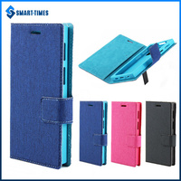 [Smart Times] Sliding Universal Phone Flip Case Wallet Stype Phone Cover with Stand