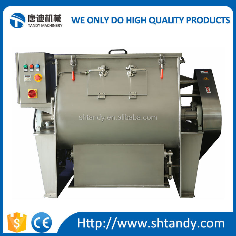 Stainless steel horizontal animal feed paddle mixer