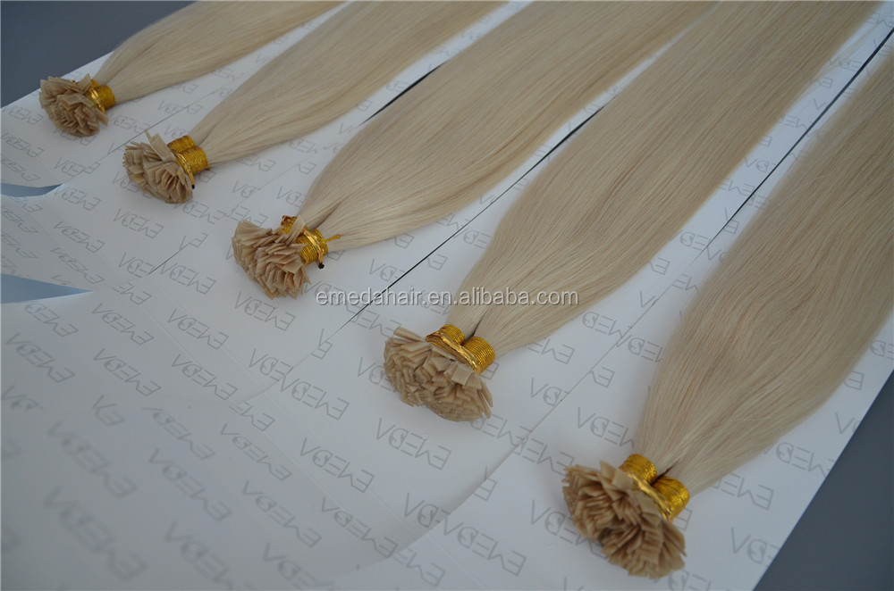 Italian keratin glue sticks blonde cold fusion hair extensions
