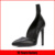 Pointed Toe High Heel Wrinkle Leather Fashion Pump Shoes For Ladies
