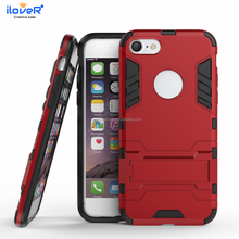 Hybrid tpu pc custom shockproof armor kickstand phone case for iphone8 7