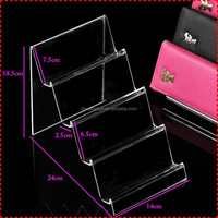 Best selling desktop acrylic wallet display stand, compass display stand, magnifier display