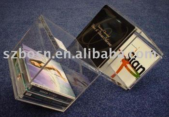 Acrylic CD Box,Perspex DVD Display,Lucite CD Holder